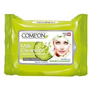 دستمال مرطوب و شیر پاکن آرایش کامان COMEON بسته ۲۰ عددی